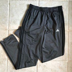 Gray Adidas Track Pants- small